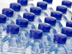 rows of bottled water